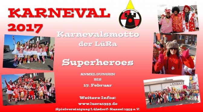 Teilnahme an den Karnevalszügen 2017!