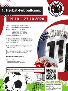 1. LüRa Fußballcamp Plakat