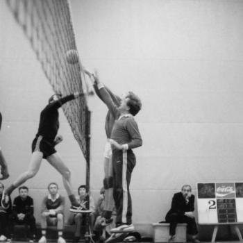Volleyball 1975 – Herren-Zweierblock mit Helmut Vaßen